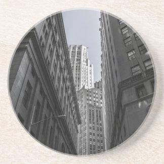 Dessous De Verre En Grès Centre Metropole de New York City de gratte-ciel