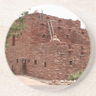 Dessous De Verre En Grès Chambre de Hopi, jante de sud de canyon grand