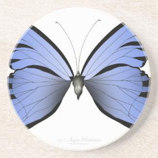 Dessous De Verre En Grès Chasseur bleu d'azur du papillon 2
