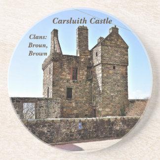 Dessous De Verre En Grès Château de Carsluith -- Clan Broun/Brown