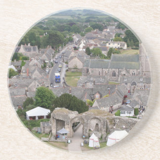 Dessous De Verre En Grès Château de Corfe, Dorset, Angleterre