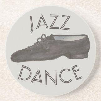 Dessous De Verre En Grès Chorégraphe noir de professeur de chaussure de