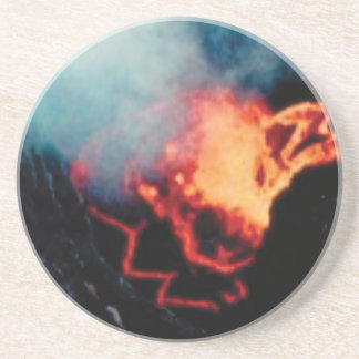Dessous De Verre En Grès chutes de lave de la chaleur