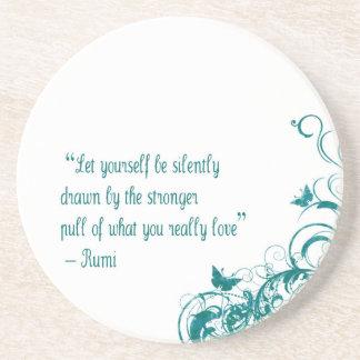 Dessous De Verre En Grès Citation d'amour de Rumi