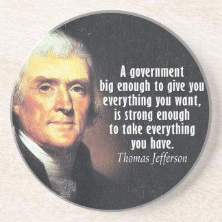 Dessous De Verre En Grès Citation de Thomas Jefferson sur le grand