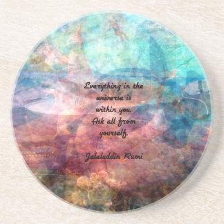 Dessous De Verre En Grès Citation élevante de Rumi au sujet d'énergie et