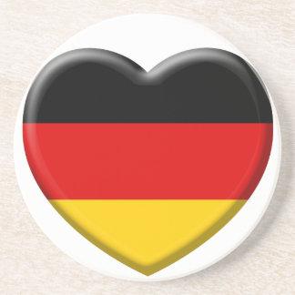 Dessous De Verre En Grès Coeur drapeau Allemand j'aime l'Allemagne