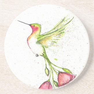 Dessous De Verre En Grès colibri de queue de fleur