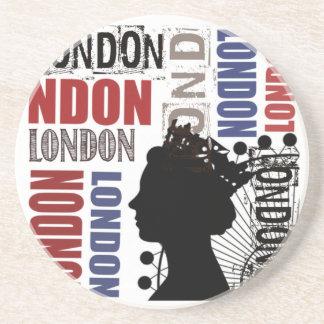 Dessous De Verre En Grès Collage moderne de voyage de Londres