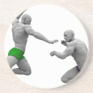Dessous De Verre En Grès Concept d'arts martiaux pour le combat et la