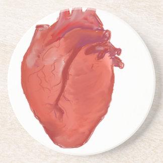 Dessous De Verre En Grès Conception d'anatomie de coeur