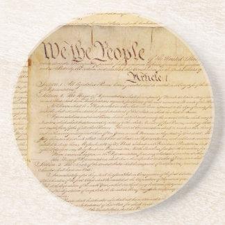 DESSOUS DE VERRE EN GRÈS CONSTITUTION DES USA