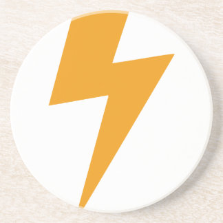 Dessous De Verre En Grès Copie de jaune d'énergie de tonnerre