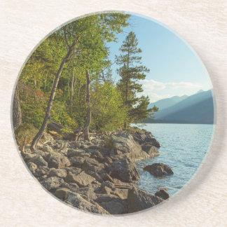 Dessous De Verre En Grès Côte de Teton de lac jenny
