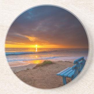 Dessous De Verre En Grès Coucher du soleil au-dessus de l'océan pacifique