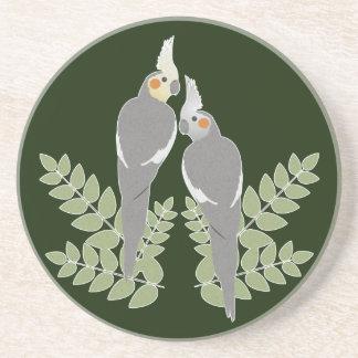 Dessous De Verre En Grès Couples de Cockatiel
