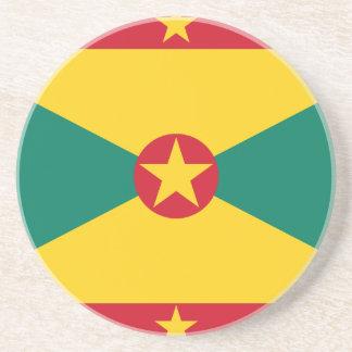 Dessous De Verre En Grès Coût bas ! Drapeau du Grenada