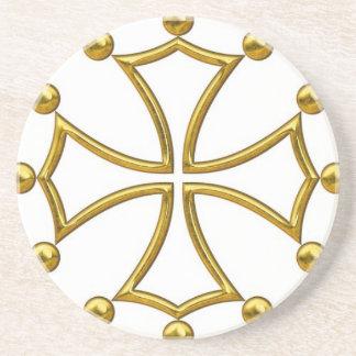 Dessous De Verre En Grès croix occitane
