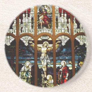 Dessous De Verre En Grès Crucifixion - Jésus sur la croix - verre souillé
