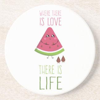 Dessous De Verre En Grès Cute Watermelon