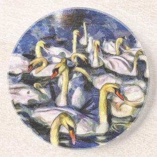 Dessous De Verre En Grès Cygnes Vincent van Gogh
