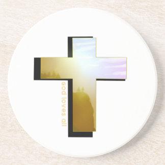 Dessous De Verre En Grès Dieu aime tous