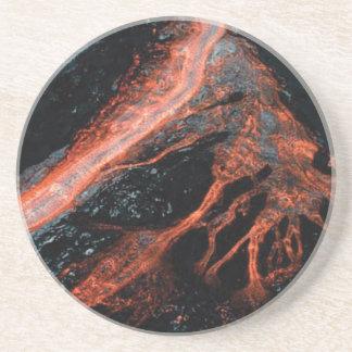 Dessous De Verre En Grès doigts de magma