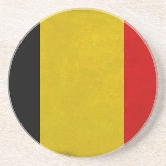 Dessous De Verre En Grès Drapeau Belgique Belge