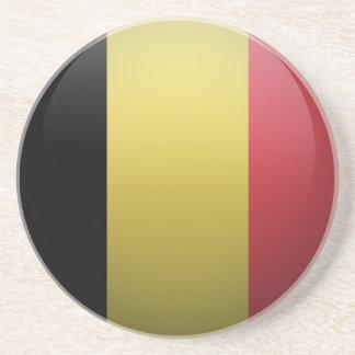 Dessous De Verre En Grès Drapeau de la Belgique