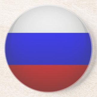 Dessous De Verre En Grès Drapeau de la Fédération de Russie