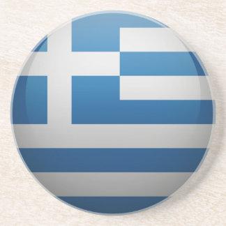 Dessous De Verre En Grès Drapeau de la Grèce