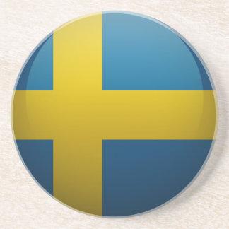 Dessous De Verre En Grès Drapeau de la Suède