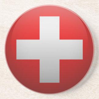 Dessous De Verre En Grès Drapeau de la Suisse
