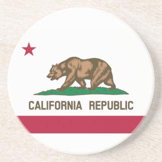 Dessous De Verre En Grès Drapeau d'état de la Californie