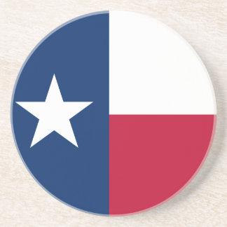 Dessous De Verre En Grès Drapeau d'état du Texas