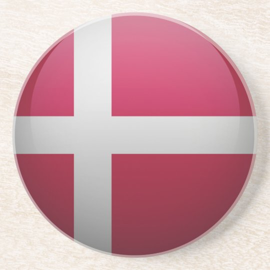 Dessous De Verre En Grès Drapeau du Danemark