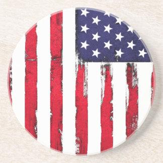 Dessous De Verre En Grès Drapeau grunge patriotique américain