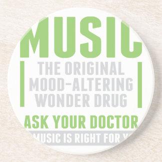 Dessous De Verre En Grès Drogue de merveille de musique