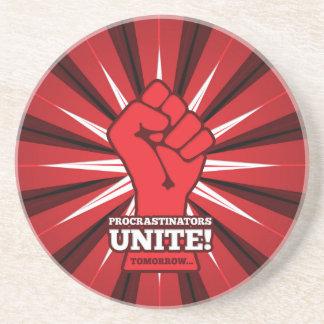 Dessous De Verre En Grès Drôle : Les Procrastinators unissent ! (Demain)
