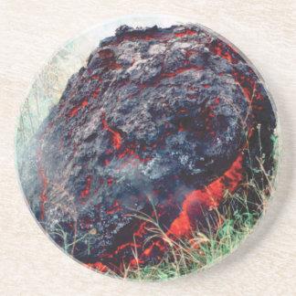 Dessous De Verre En Grès éclat du feu et de flamme