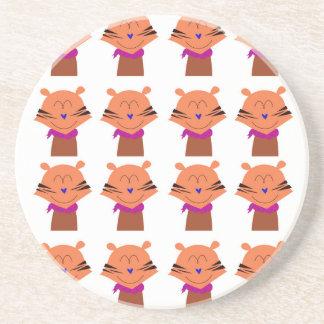 Dessous De Verre En Grès Édition d'enfants de renards d'éléments de