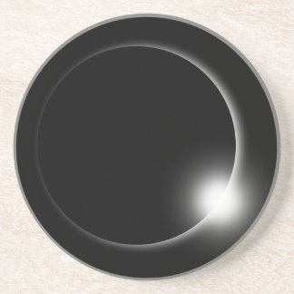 Dessous De Verre En Grès Éruption chromosphérique de fusée de Sun d'éclipse
