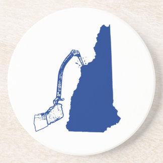 Dessous De Verre En Grès Escalade de glace du New Hampshire