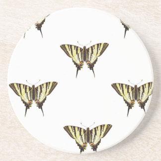 Dessous De Verre En Grès étendez les papillons