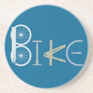 Dessous De Verre En Grès Faites du vélo les mots de la fan de sports de