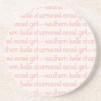 Dessous De Verre En Grès Fille de Côte Est avec le charme du sud de belle
