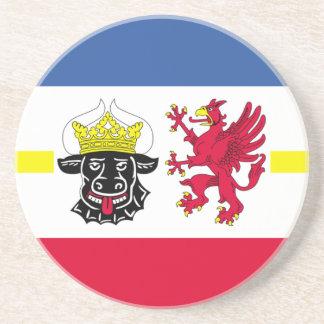 Dessous De Verre En Grès Flag_of_Mecklenburg-Western_Pomerania_