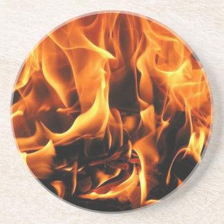 Dessous De Verre En Grès flammes