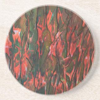 Dessous De Verre En Grès Flammes de les de dans de Herbe