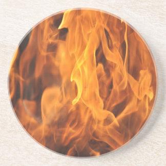 Dessous De Verre En Grès Flammes - trop chaudes à manipuler